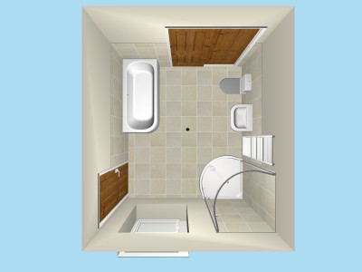 Duravit Happy D Plan View in 3D
