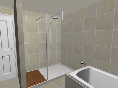 Matki Walk in Shower Elevation